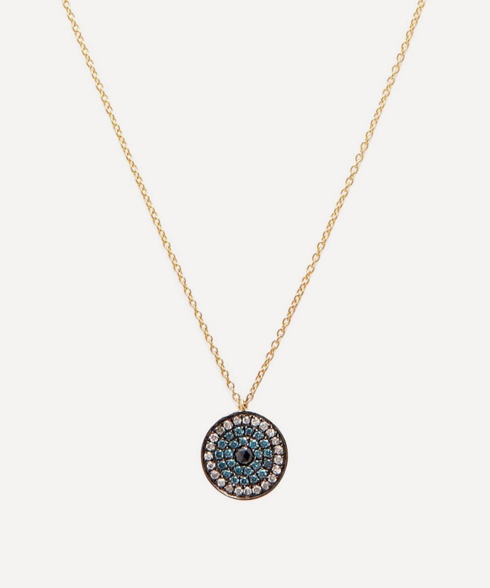 Annoushka - 18ct Gold Love Diamonds Evil Eye Pendant Necklace