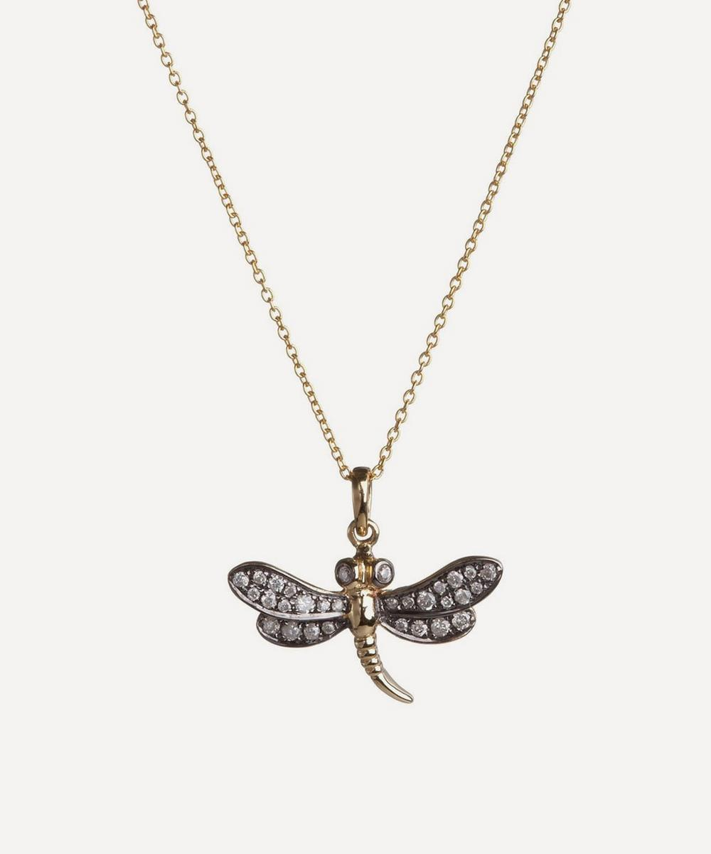 Annoushka - 18ct Gold Love Diamonds Dragonfly Necklace