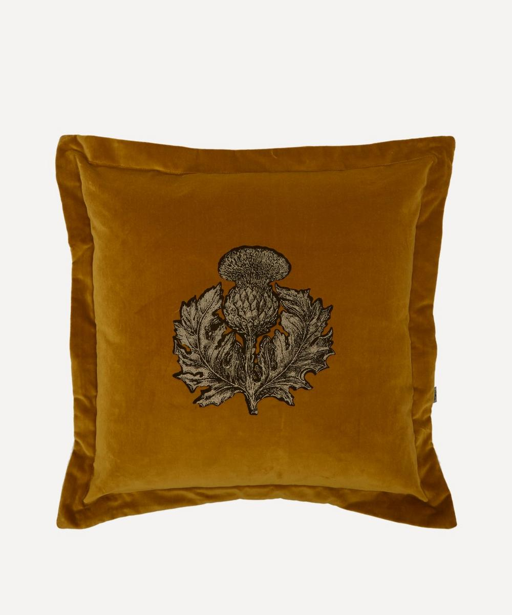 Timorous Beasties - Thistle Velvet Cushion
