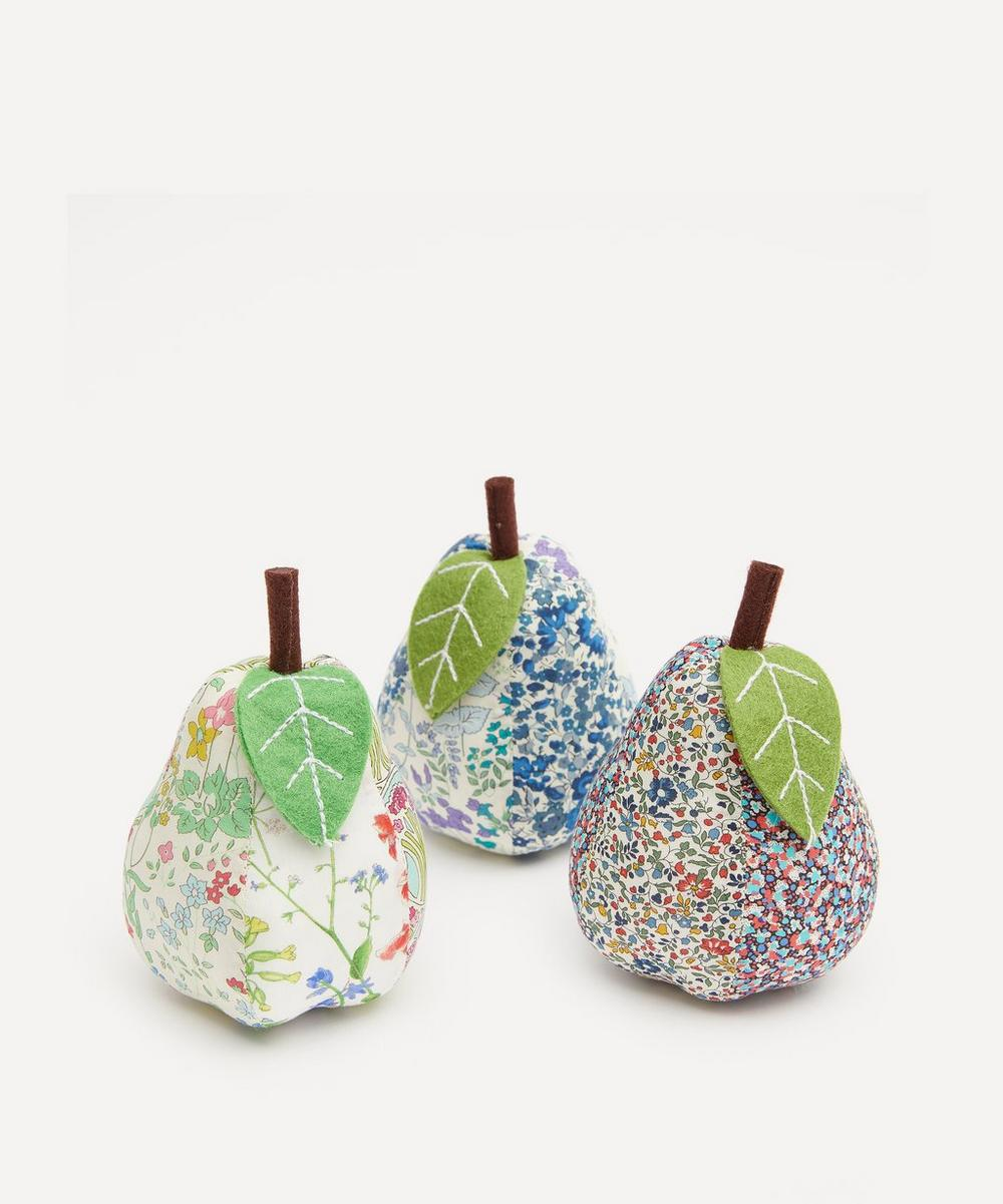 Liberty - Patchwork Print Pear Pin Cushion image number 0