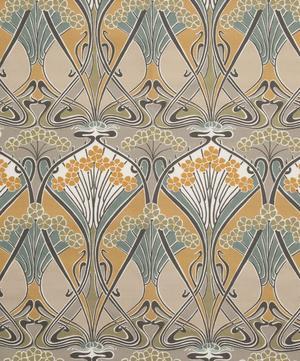 Ianthe Flowers Linen Union in Dove