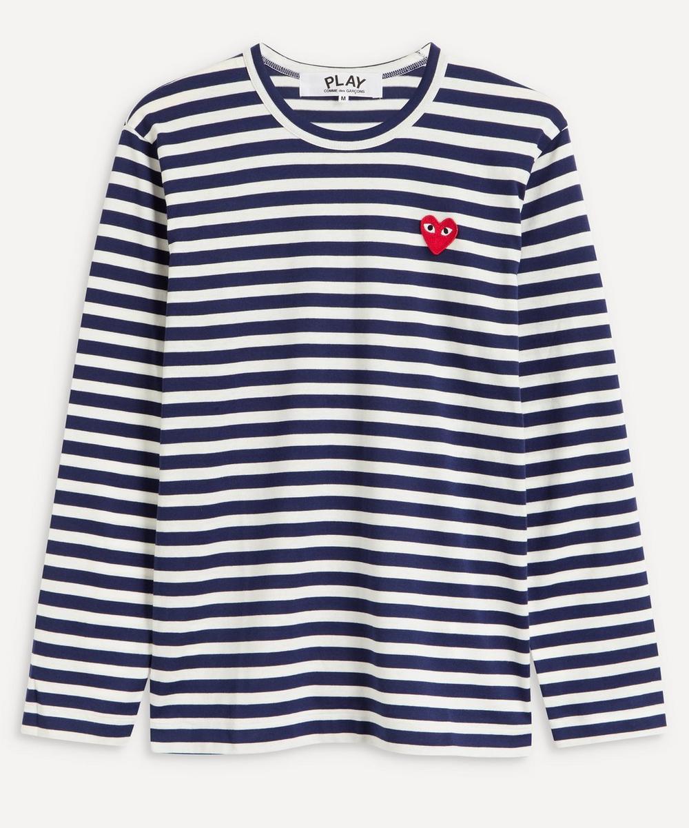 Comme des Garçons Play - Striped Cotton Long Sleeve T-Shirt