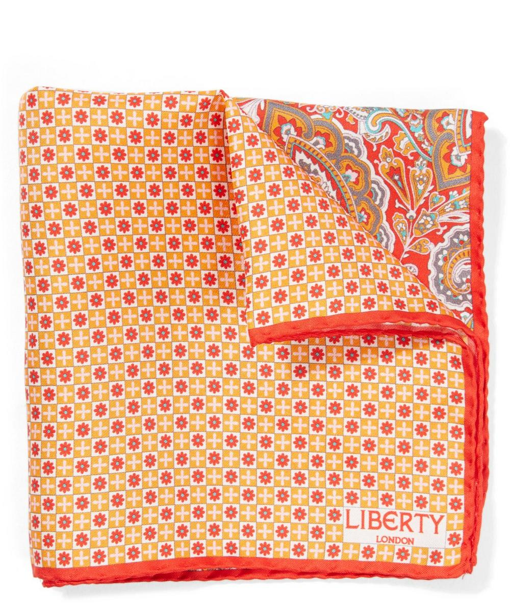 Liberty - Red Eltham Silk Pocket Square