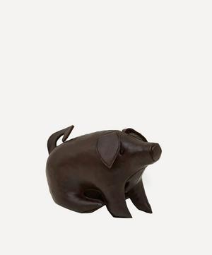 Miniature Leather Sitting Pig