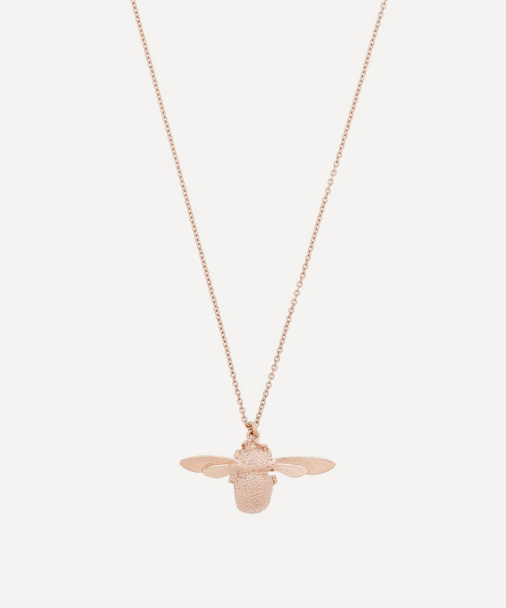 Alex Monroe - Rose Gold-Plated Bumblebee Necklace