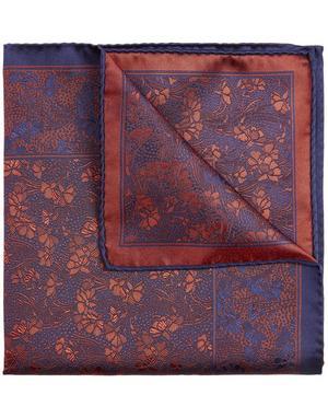 Cranston Print Silk Pocket Square from Liberty London.