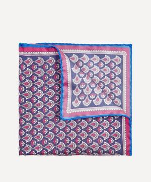 Grey Fairlie Print Silk Pocket Square