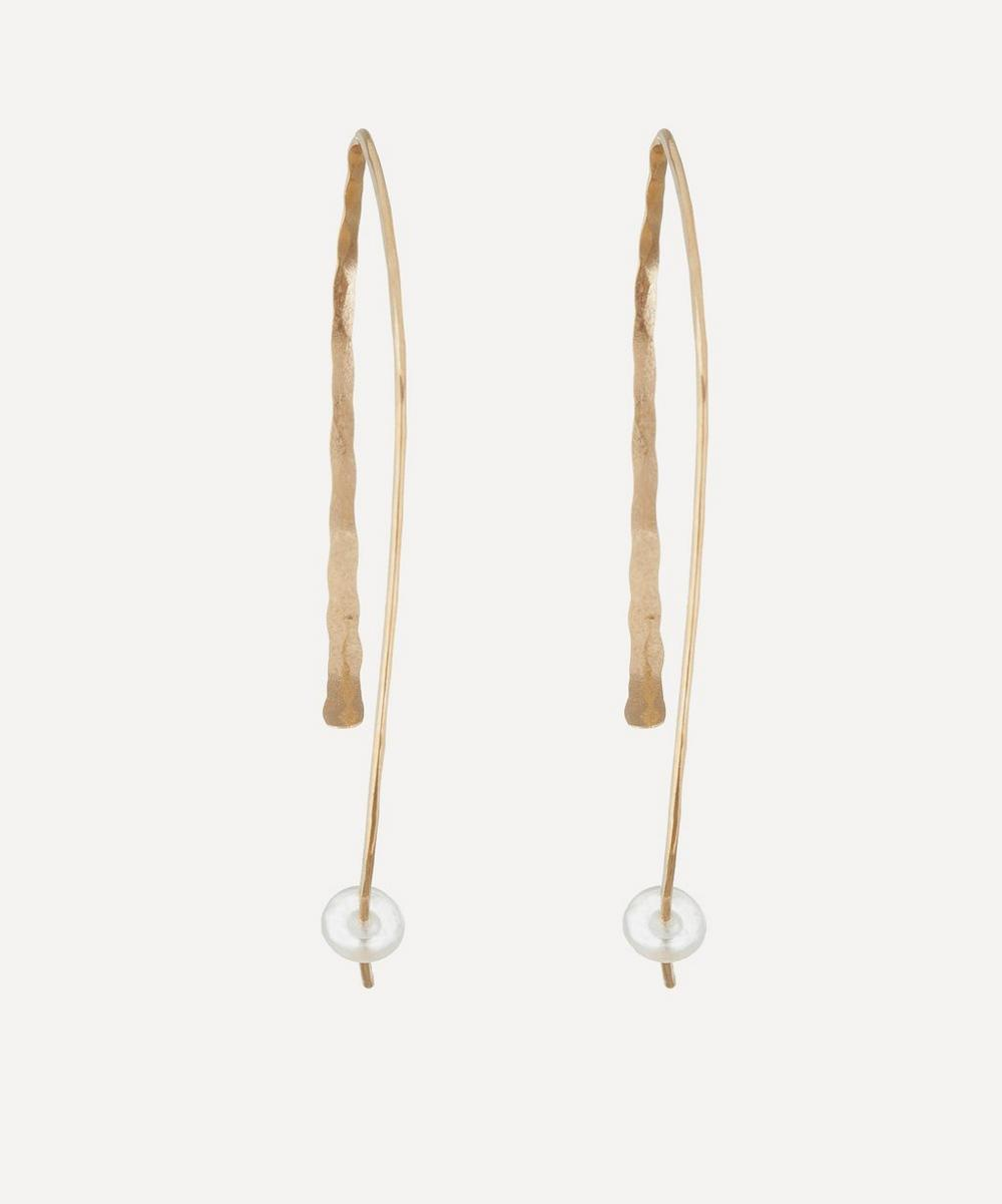 Melissa Joy Manning - Large Gold Wishbone Earrings
