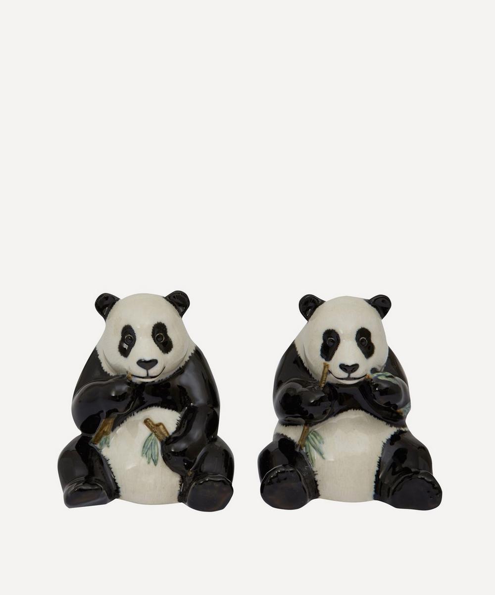 Quail -  Panda Stoneware Salt and Pepper Shakers