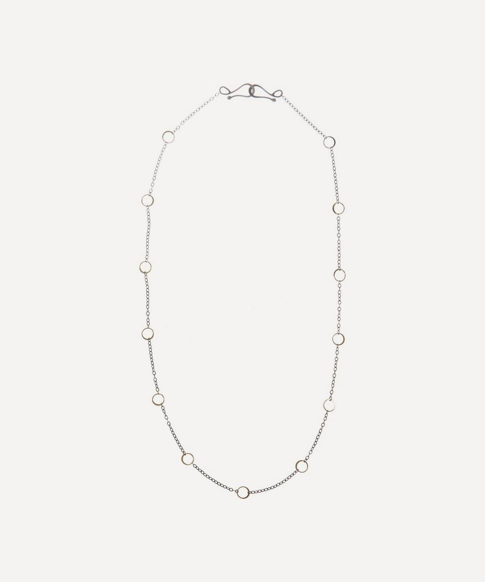 Melissa Joy Manning - Silver and Gold Ring Detail Necklace