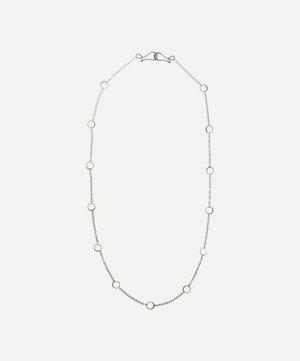 Silver and Gold Ring Detail Necklace