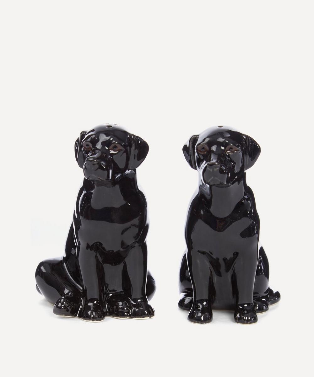 Quail - Black Labrador Salt And Pepper Shakers