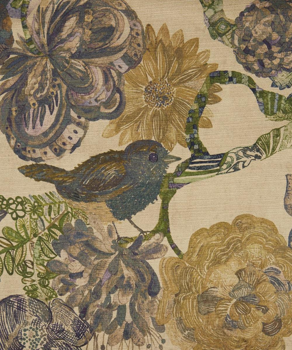 Liberty Fabrics Interiors - Golden Jeffery Rose Tree Vintage Velvet