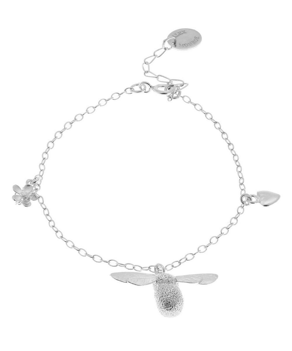 Alex Monroe - Silver Baby Bumblebee Flower Charm Bracelet
