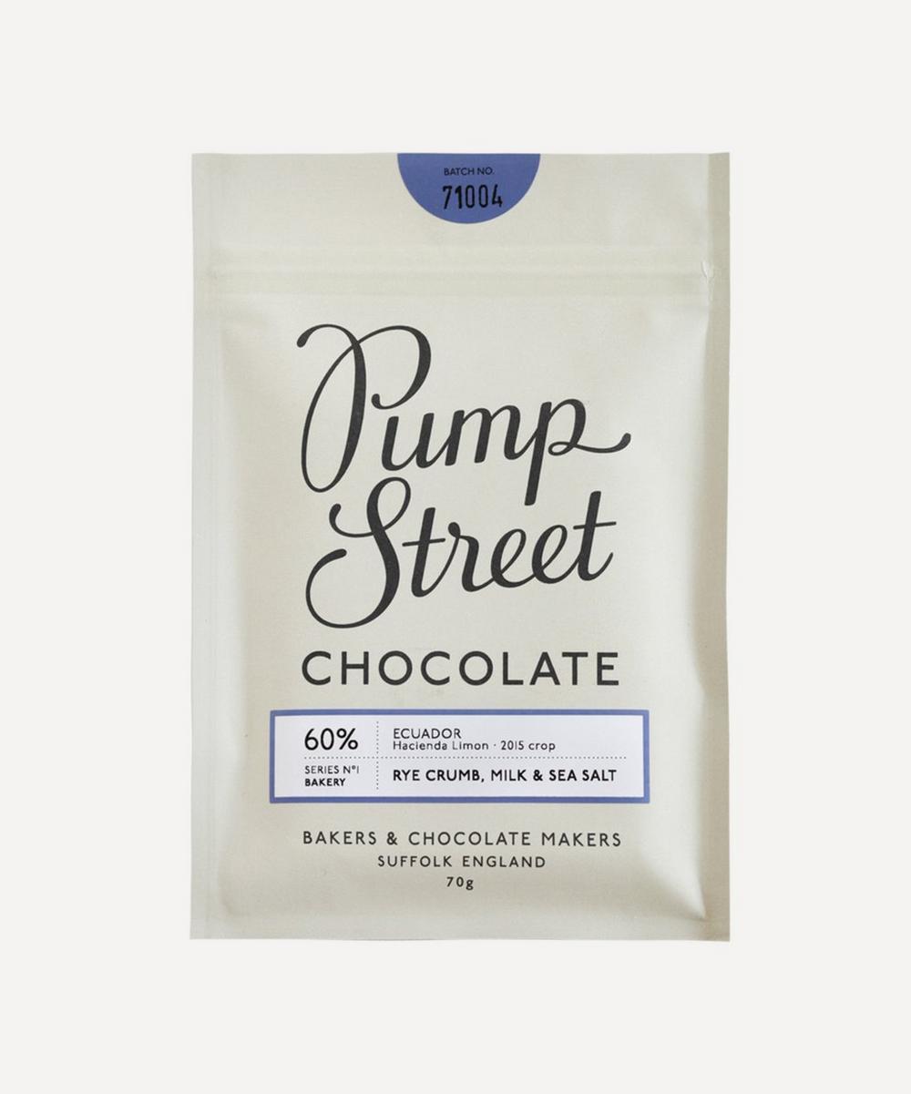 Pump Street Bakery - Bakery Rye Crumb 60% Milk Sea Salt Bar 70g