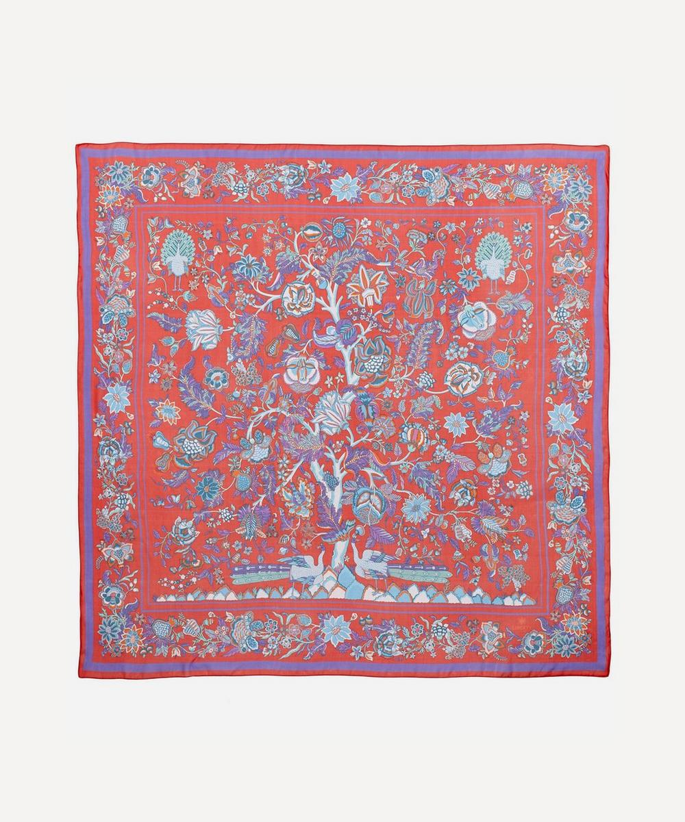 Liberty - Tree of Life 140 x 140 Silk Chiffon Scarf