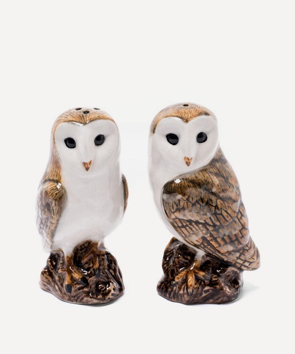 Quail - Barn Owl Stoneware Salt and Pepper Shakers