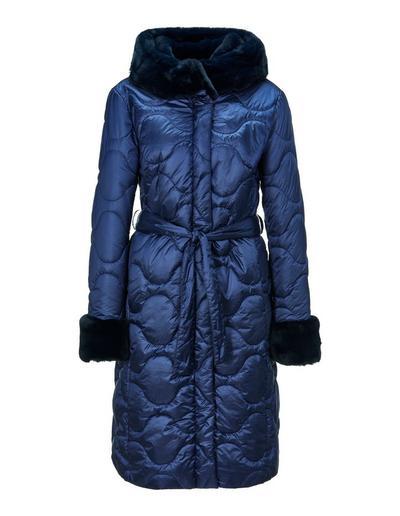 MADELEINE  Manteau femme bleu nuit / bleu
