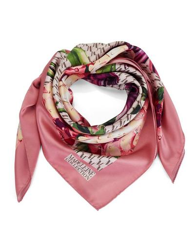 MADELEINE Soie Foulard femme rosé/multicolore / rose pâle