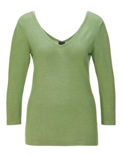 MADELEINE  Pull femme vert tilleul / vert