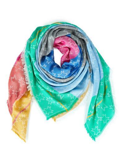 MADELEINE  Foulard femme multicolore / bleu