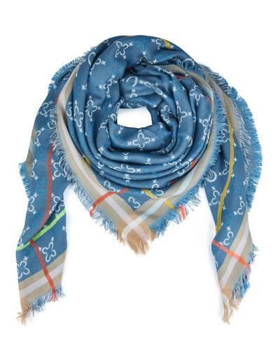 MADELEINE  Foulard femme bleu layette / bleu