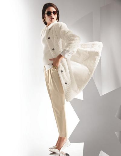 MADELEINE  Manteau femme blanc cassé / blanc