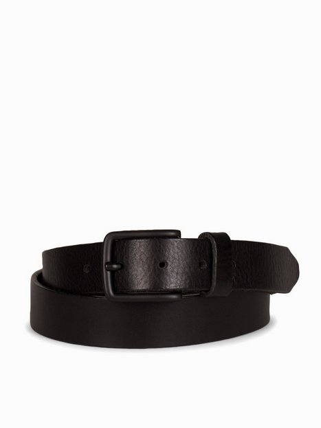 Jack Jones Jaclee Leather Belt Noos Bælter Black - herre