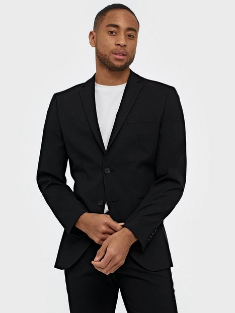 Selected Homme Slhslim-Mylologan Black Blazer B No Blazere & jakkesæt Sort