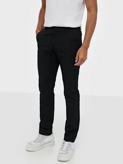 Selected Homme Slhslim Mylologan Black Trouser B N Bukser Sort - herre