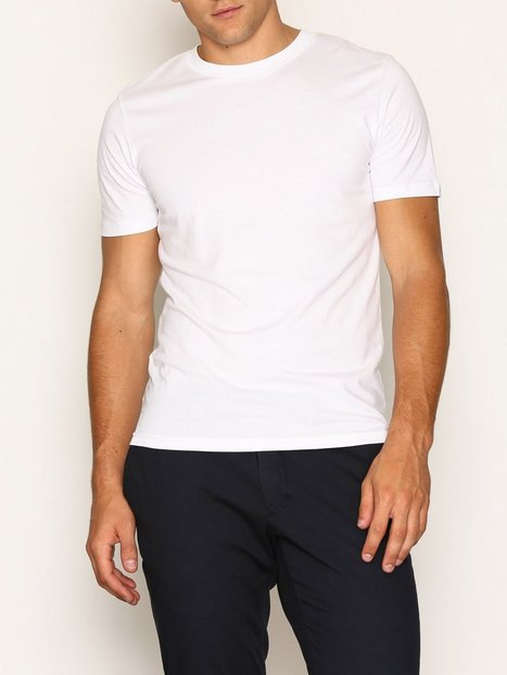 Selected Homme Slhtheperfect Ss O Neck Tee B Noos T shirts undertrøjer Hvid - herre