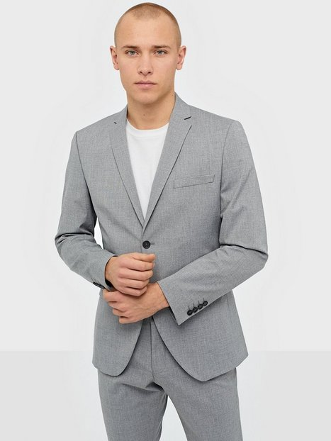 Selected Homme Slhslim Mylologan Light Grey Blz B Blazere jakkesæt Lysegrå - herre