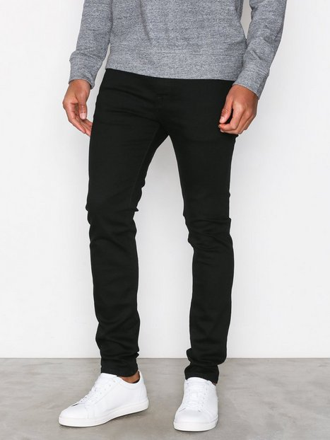 Selected Homme Slhskinny-Pete 1001 Black St Jns W Jeans Sort