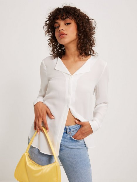 Vila Vilucy L/S Shirt - Noos Hverdagsbluser Hvid