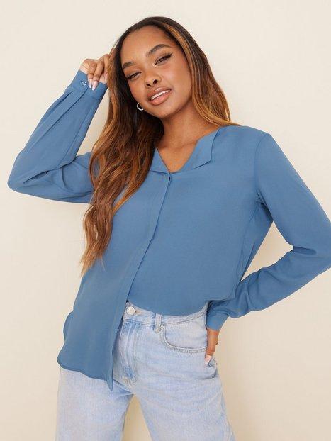 Vila Vilucy L/S Shirt - Noos Hverdagsbluser Captains Blue