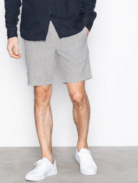 Selected Homme Shholiver D. Sapphire Big Stripe Sh Shorts Mørkeblå mand køb billigt