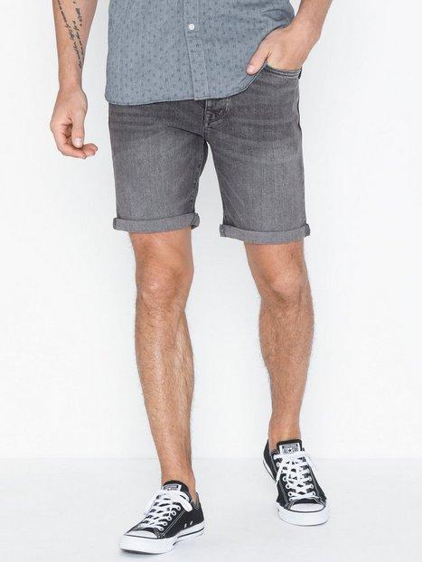 Selected Homme Slhalex 309 Lt Grey St Dnm Shorts W Shorts Grå mand køb billigt