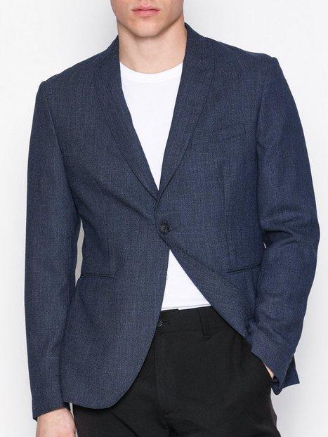 Selected Homme Shdonevenice Structure Blazer Blazere jakkesæt Mørkeblå mand køb billigt