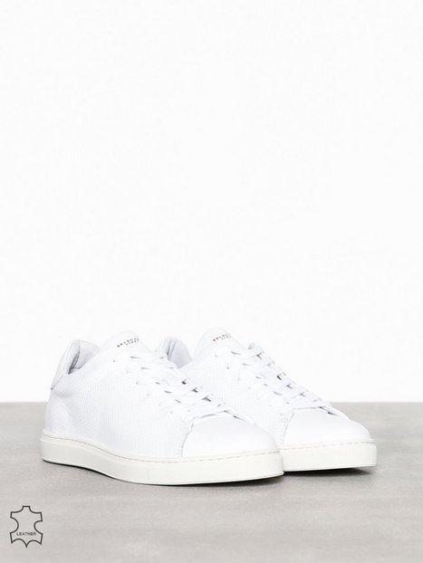 Selected Homme Slhdavid Leather Trainer W Sneakers Hvid mand køb billigt