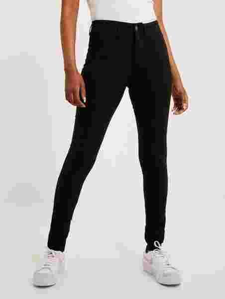 PIECES Damen Pcskin Wear Jeggings Black//Noos Jeanshose
