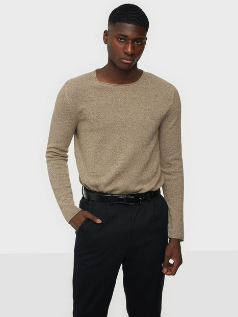 Selected Homme Slhrocky Crew Neck B Noos Trøjer Sand Mix