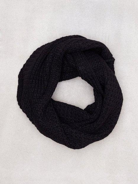Jack Jones Jacwaffle Knit Tube Noos Halstørklæder scarves Sort - herre