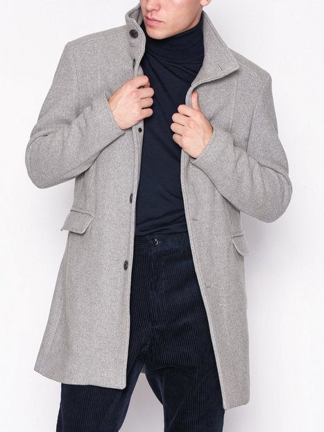 Selected Homme Slhmosto Wool Coat B Blazere jakkesæt Grå mand køb billigt