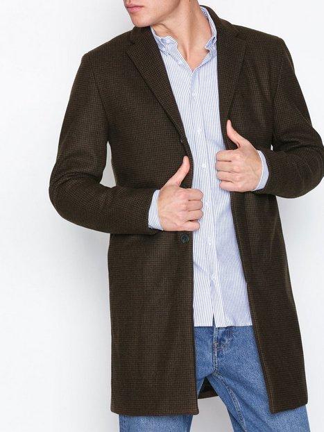Selected Homme Slhbrove Wool Coat B Jakker frakker Mørkebrun mand køb billigt