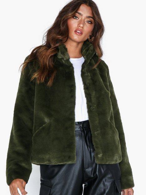 Billede af Only onlVIDA Faux Fur Jacket Otw Noos Faux fur Mørkegrøn