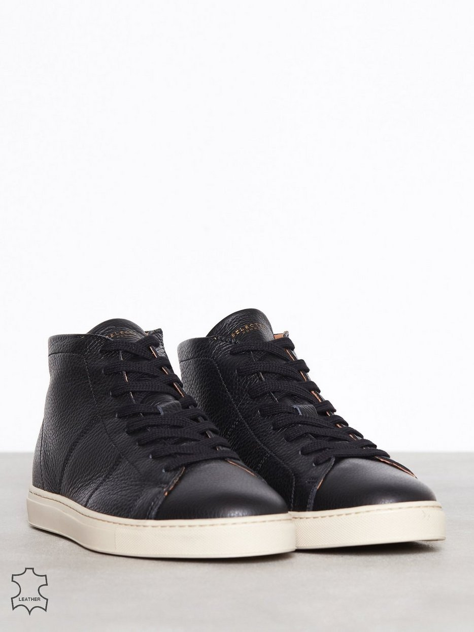 SLHDAVID HIGHTOP LEATHER TRAINER W