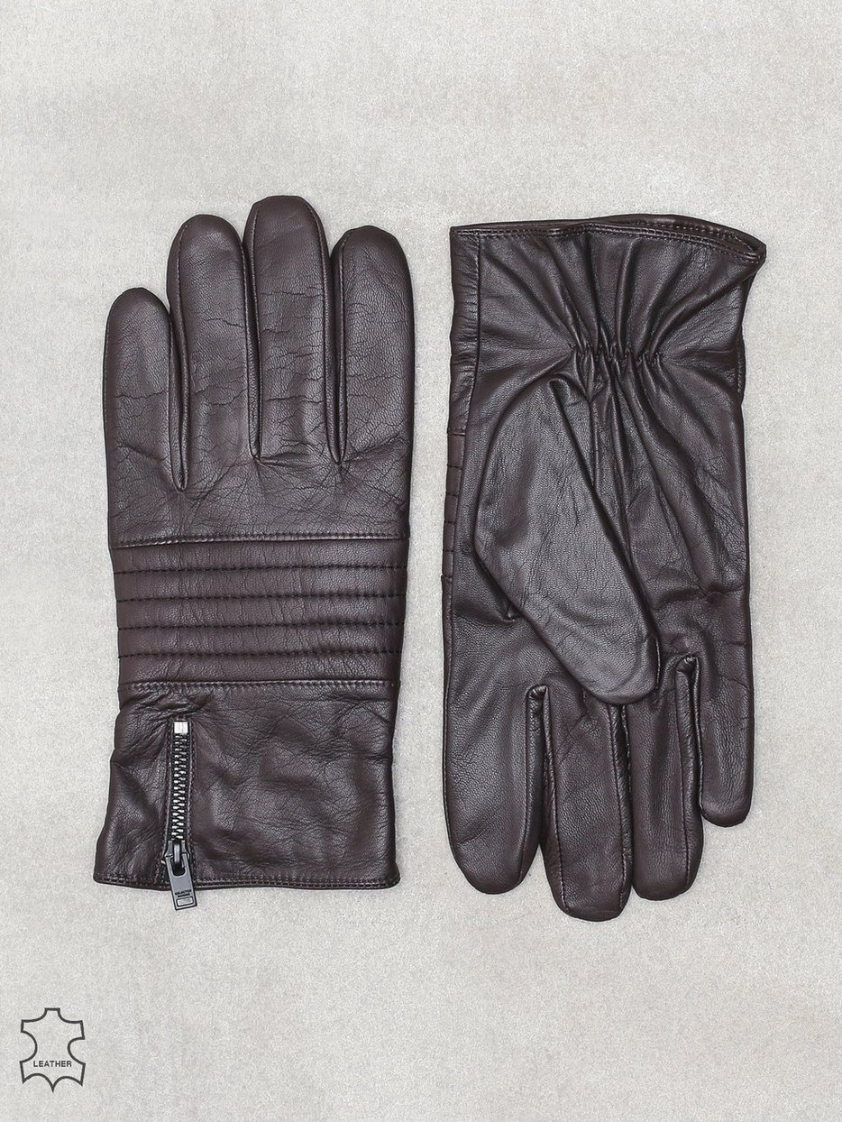 SLHNEW BIKER LEATHER GLOVE W