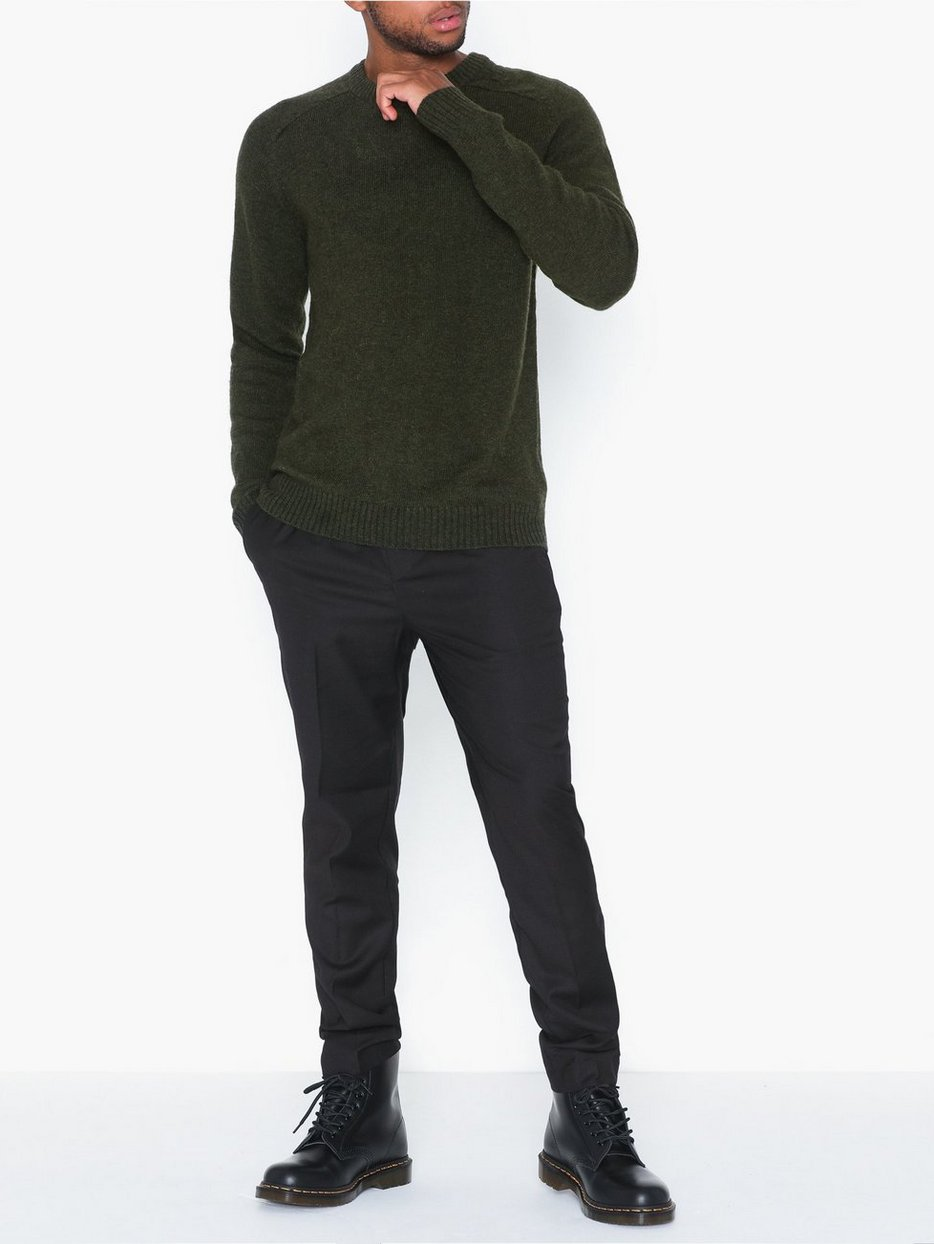 SLHNEWCOBAN WOOL CREW NECK W