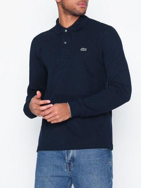 Lacoste Chemise Col Bord Polotrøjer Navy - herre