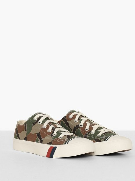 PRO keds Royal Lo Rok Camo Sneakers Olive - herre